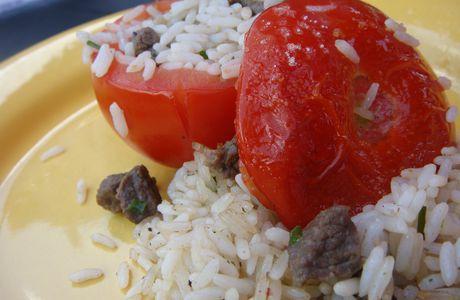Tomates farcies au riz et boeuf
