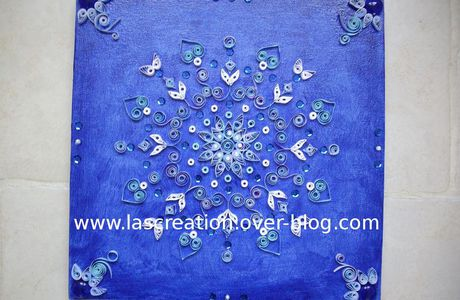 Toile quilling bleu ryad