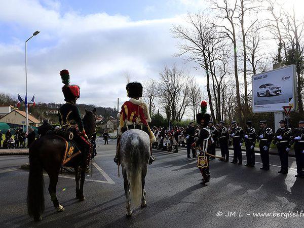 Cérémonies du 16 février 2014 au Monument des Gendarmes et à la statue équestre de l'Empereur avec baptême de la place de la Légion d'Honneur.