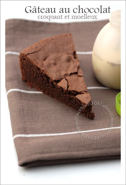Gâteau croustillant moelleux chocolat tonka