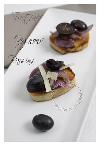 Tartines apéro aux raisins