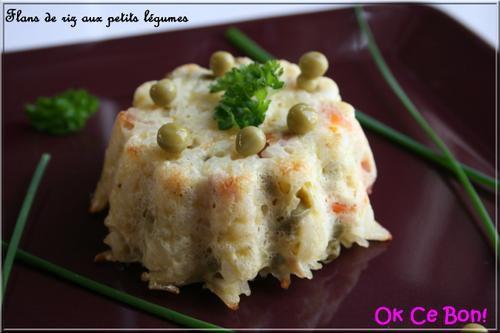 Flans de riz aux petits légumes