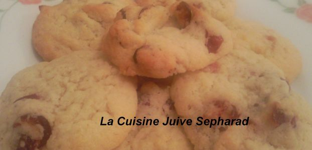 COOKIES AU CRANBERRIES