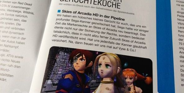Skies Of Arcadia bientôt disponible en HD ?
