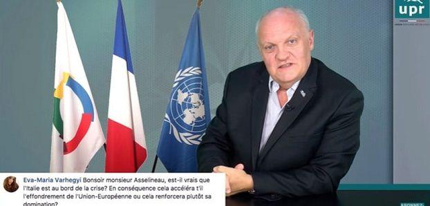 François Asselineau: Italie: on est au devant d'une crise majeure qui risque de frapper à tout moment...