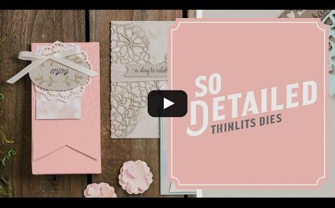 video tuto gratuit STAMPIN UP  Amour Fou en détails / So in Love Stamp Set & So Detailed Thinlits