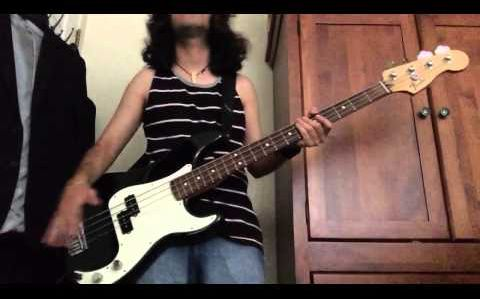 Daft punk one more time bass cover