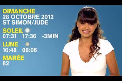 [2012 10 27] LAURENCE ROUSTANJEE - M6 - METEO @19H40