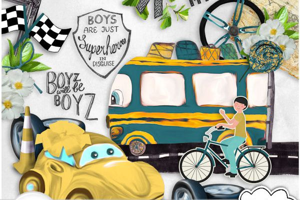 """boys and cars"" + FREEBIE"