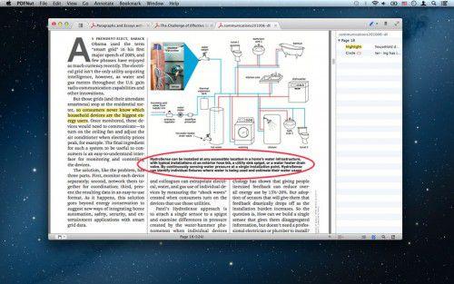 Leer archivos PDF en Mac OS X con PDFNut