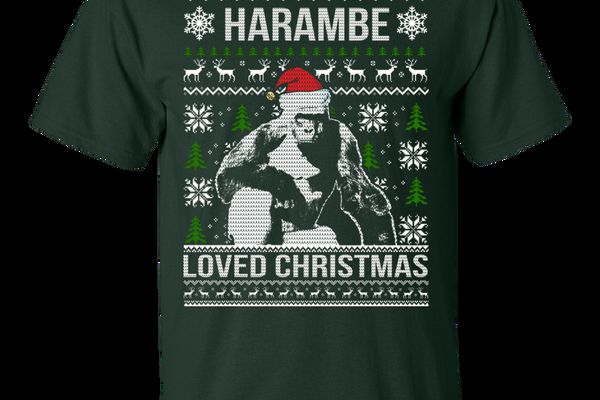 Harambe Loved Christmas Ugly Sweater
