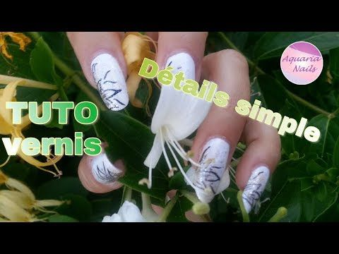 Tuto nail art de détail simple