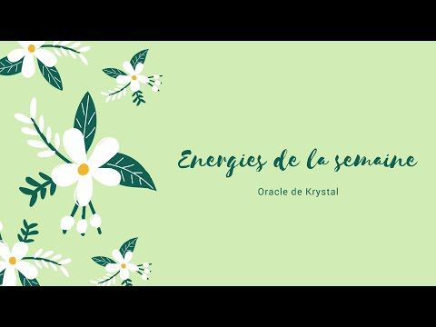 Energies du 25 sept au 1er octobre 2017 Oracle de Krystal