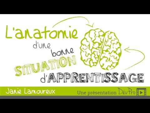 ANATOMIE D'UNE SITUATION D'APPRENTISSAGE