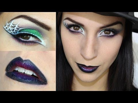 Maquillage d'halloween: sorcière glam