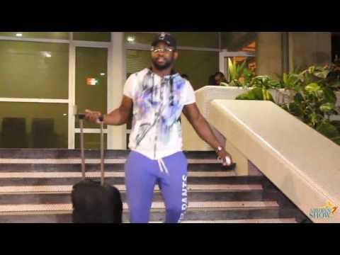 Arrivée de #MaîtreGims à #Abidjan...