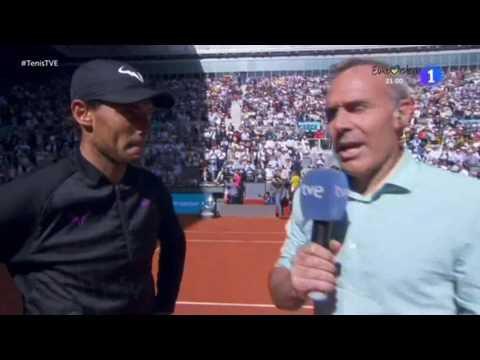 Vidéos - MMO - Madrid -Extrait du match et Interviews après la demi-finale vs Djokovic