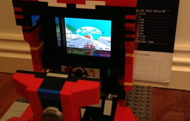 You will love this OutRun Arcade Cabinet made of LEGO