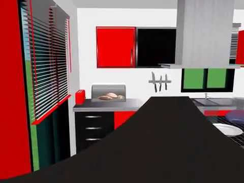 Design 3D kitchen video