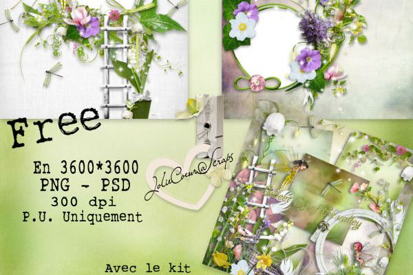 "2 QPs free...avec le kit ""Sweet Lily of the valley"""