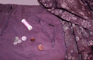 Broder & élargir un pantalon à poches: préparation