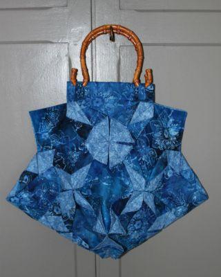 Mon sac bleu origami: terminé + bonus