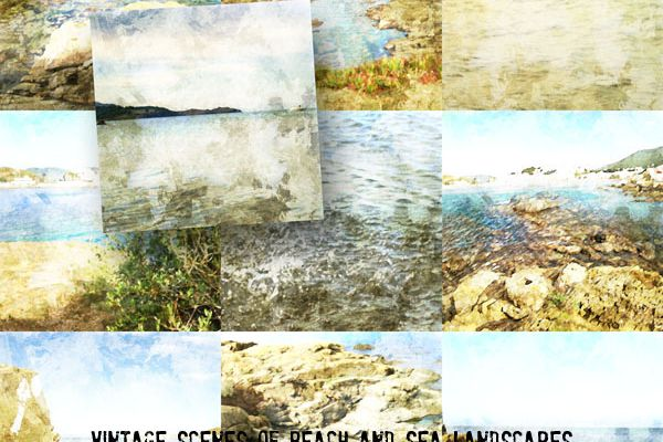 NEW CU *** Vintage Scenes of Beach and Sea Landscapes ***