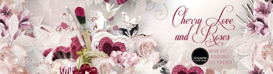 Cherry Love and Roses - KIT - Addons - CUPack - Simplette Scrap and Design *** NEW