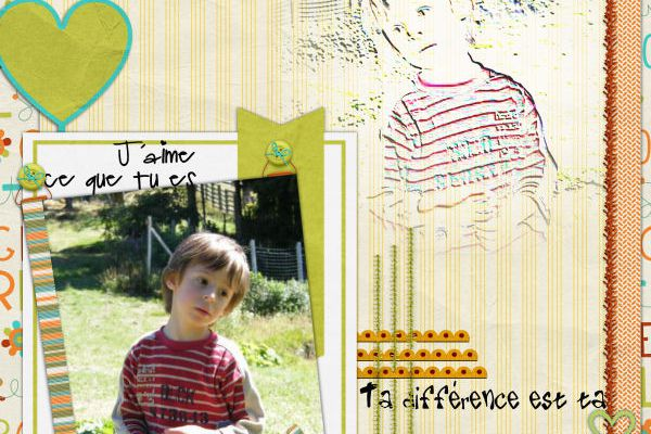 """""""  Be Different """" LeaUgoscrap + Free"""