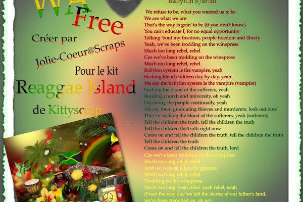 WA free... chanson de Bob Marley