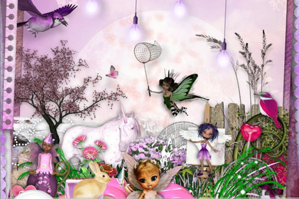 """ My little pink paradise "" + Freebies !!! TinkerScrap"