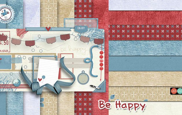 Be Happy - ScrapBird Blue Mix & Match
