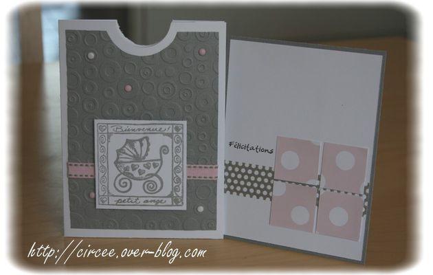 Carte de félicitations de naissance fille