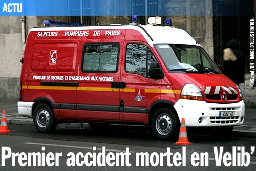 Premier accident mortel en Velib'