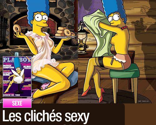 Les clichés sexy de Marge Simpson !