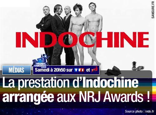 La prestation d'Indochine arrangée aux NRJ Awards !