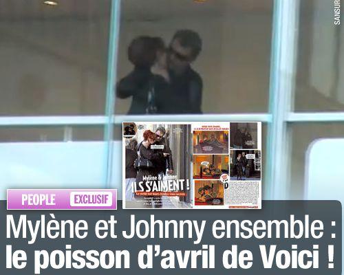 EXCLUSIF / Mylène et Johnny ensemble : le poisson d'avril de Voici !