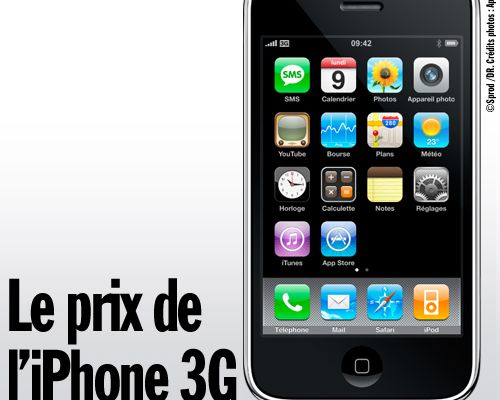 Le prix de l'iPhone 3G