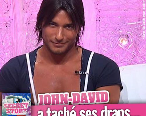 Secret Story 2 : John-David a taché ses draps...