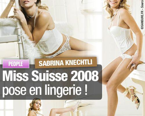 Miss Suisse 2008 pose en lingerie !