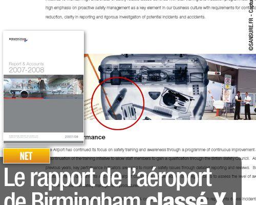 Le rapport de l'aéroport de Birmingham classé X !