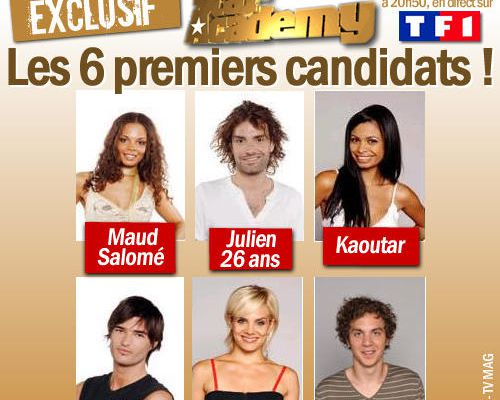 EXCLU : Star Academy 6, les 6 premiers candidats !