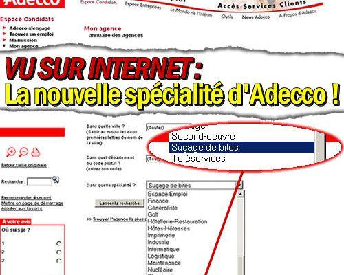 La nouvelle spécialitée d'Adecco !