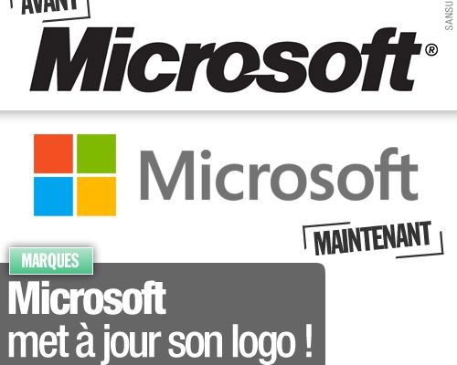 Microsoft met à jour son logo !