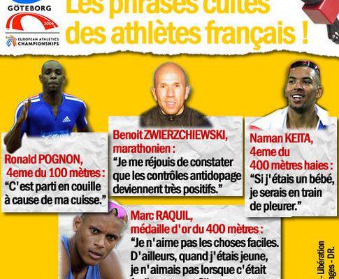 Les phrases cultes des athlètes français !