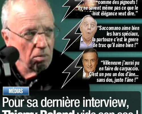 Pour sa dernière interview, Thierry Roland vide son sac !