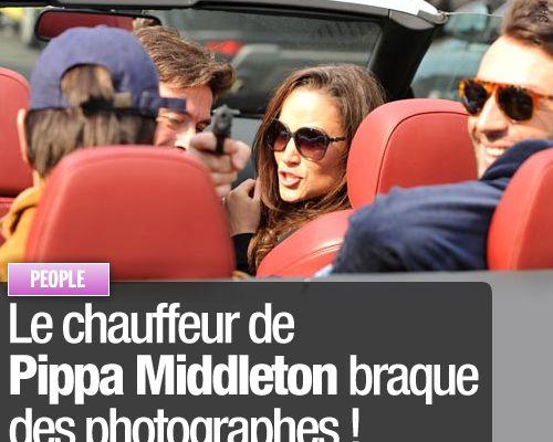 Le chauffeur de Pippa Middleton braque des photographes !