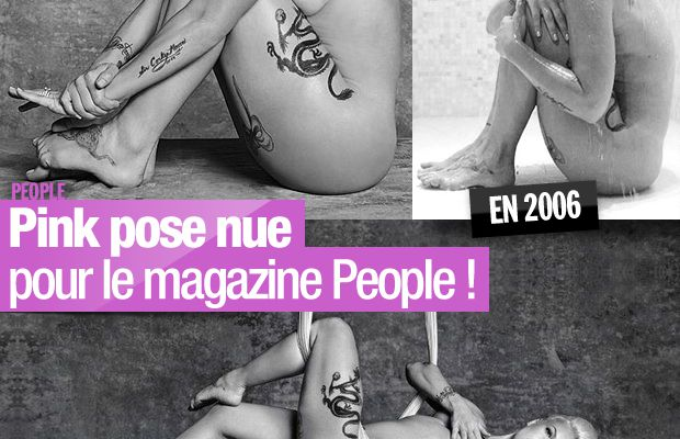 Pink pose nue pour le magazine People ! #Pink