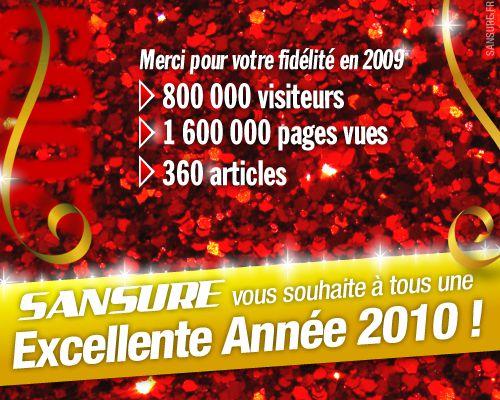 Excellente Année 2010 sur SANSURE !