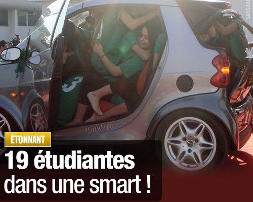 19 étudiantes dans une smart !